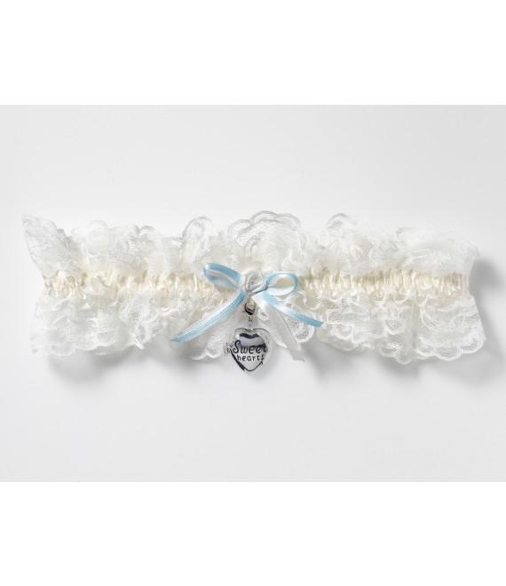 Luxury Garter with locket KB-33 Poirier - The Beautiful Bride Shop