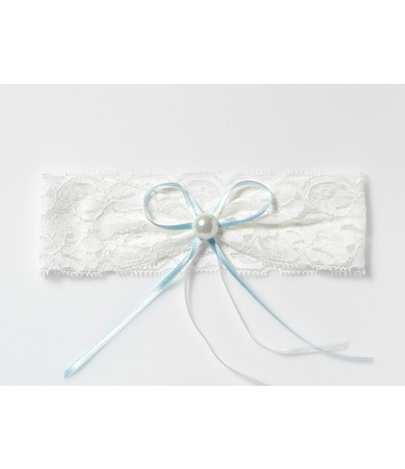 Lace Garter with pearl KB-40 Poirier - The Beautiful Bride Shop
