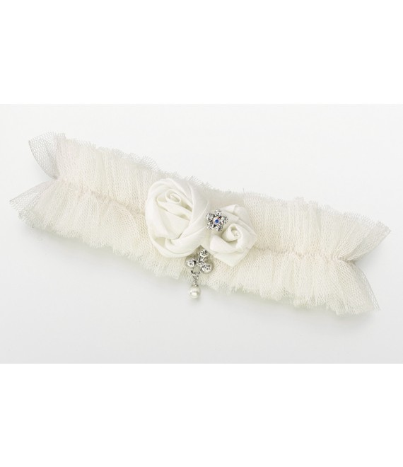 Tulle Jeweled Garter LG191 - The Beautiful Bride Shop