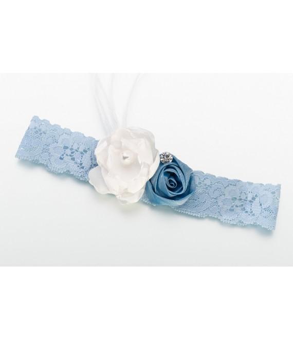 Lillian Rose Blue Vintage Lace Garter  LG195VB - The Beautiful Bride Shop