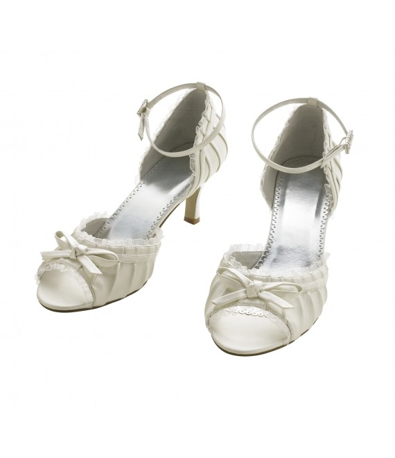 Lilly Bridal Shoes (07-1965-CR) - The Beautiful Bride Shop
