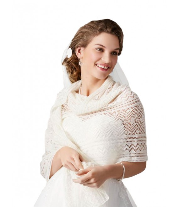 Knitted Stole S161 Poirier - The Beautiful Bride Shop 1