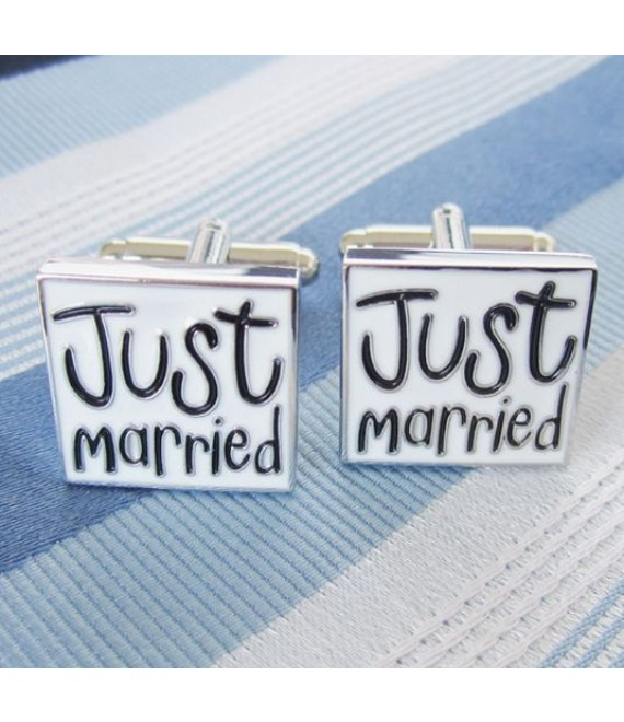 Just married Cufflinks Cufflinks - The Beautifil Bride Shop