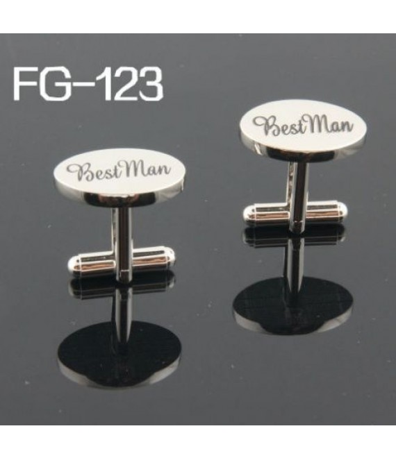 Silver wedding role cufflinks set Best Man - The Beautiful Bride Company