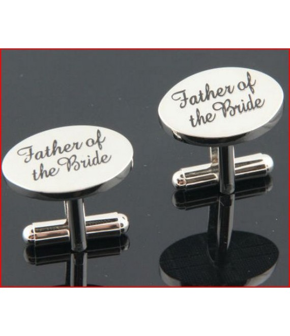 Silver wedding role cufflinks set father of the bride - The Beautiful Bride Company