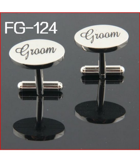 Silver wedding role cufflinks set groom - The Beautiful Bride Company