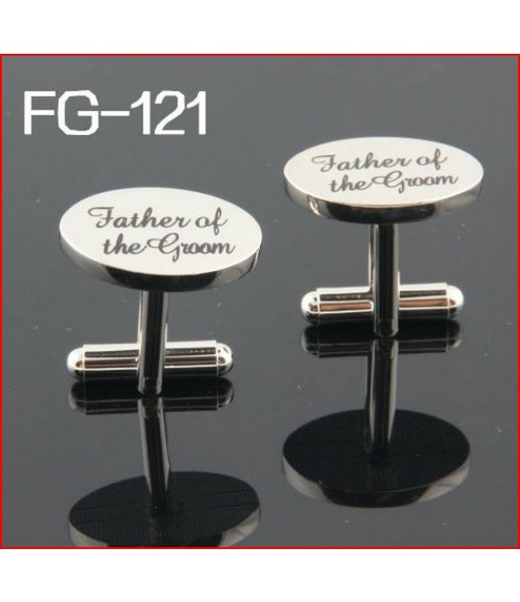 Silver wedding role cufflinks set father of the groom - The Beautiful Bride Company