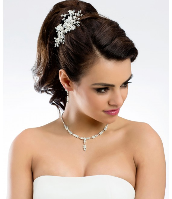 Necklace with earrings N30 - The Beautiful Bride Shop
