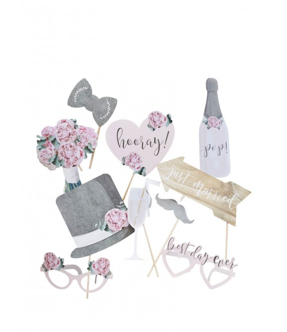 Just Married Cake Bunting Topper-VL-222 - The Beautiful Bride Shop