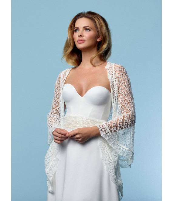 Knitted Stole S157 Poirier - The Beautiful Bride Shop