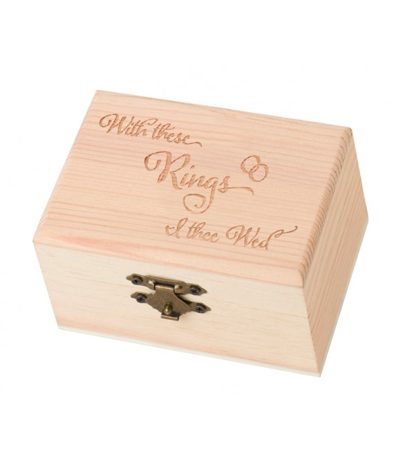 Wooden Ring Box RA502W - The Beautiful Bride Shop