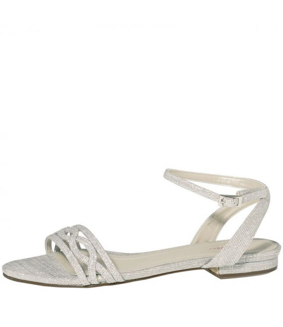 Rainbow Club Wedding Shoe Faye-Silver Metallic - 1