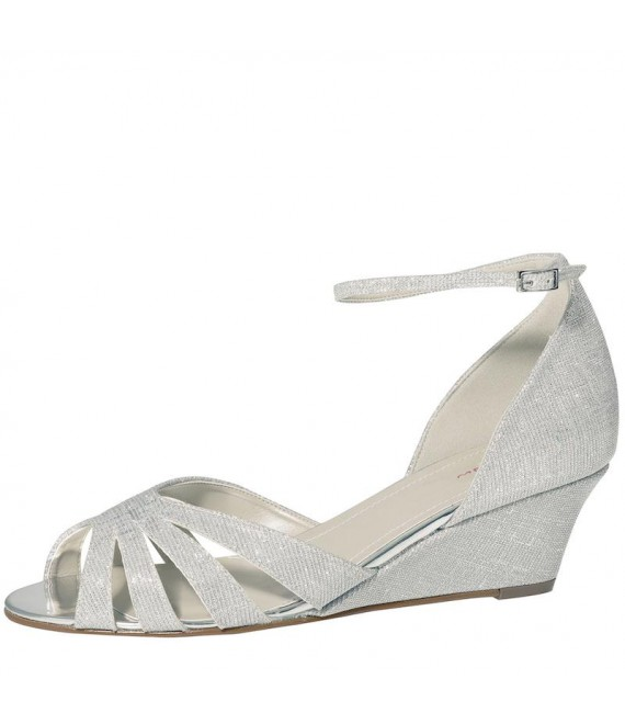 Rainbow Club Wedding Shoes Michelle Silver Metallic