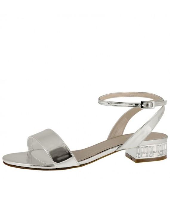 Rainbow Club Wedding Shoes Michelle Silver Metallic