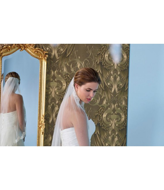 Veil with lace S145-075/1/SOFT| Poirier