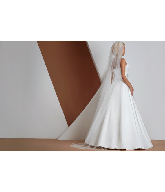 Veil with corded edge S166 - The Beautiful Bride Shop