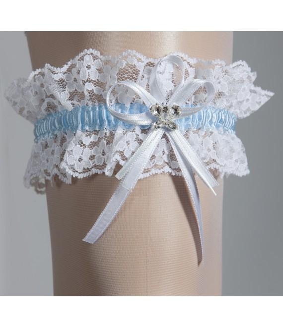 Garter White & Blue - The Beautiful Bride Shop