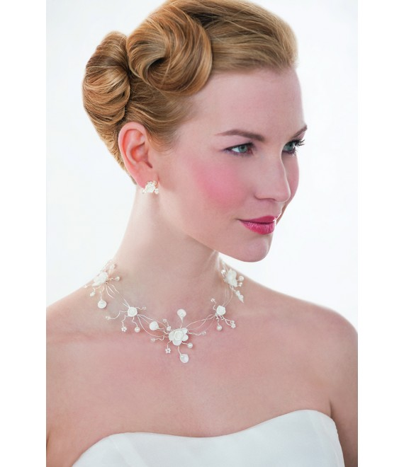 Emmerling necklace and Earrings 66149 - The Beautiful Bride shop
