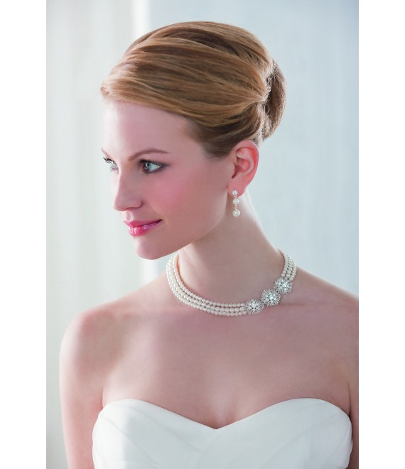 Emmerling necklace and Earrings 66151 - The Beautiful Bride shop