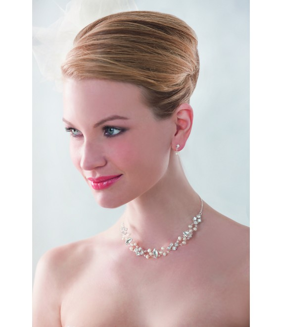 Emmerling necklace and Earrings 66153 - The Beautiful Bride shop