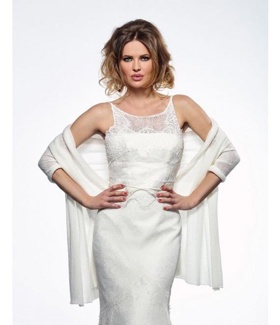 Bridal Stole S167 2 Poirier - The Beautiful Bride Shop