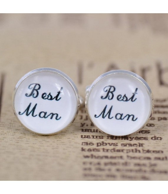 Wedding role cufflinks set Best Man - The Beautiful Bride Company