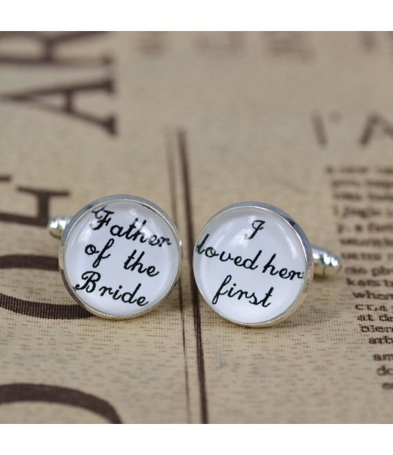wedding cufflinks set father of the bride - The Beautiful Bride Shop