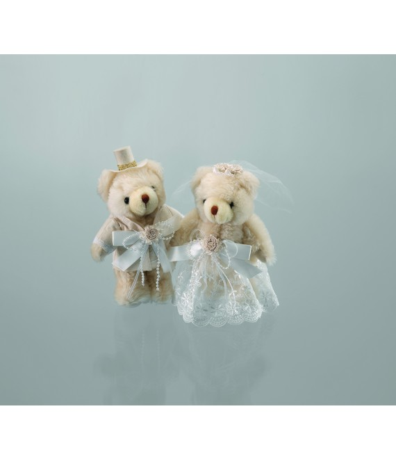 Emmerling Bride and Groom teddy bears 13010 - The Beautiful Bride Shop