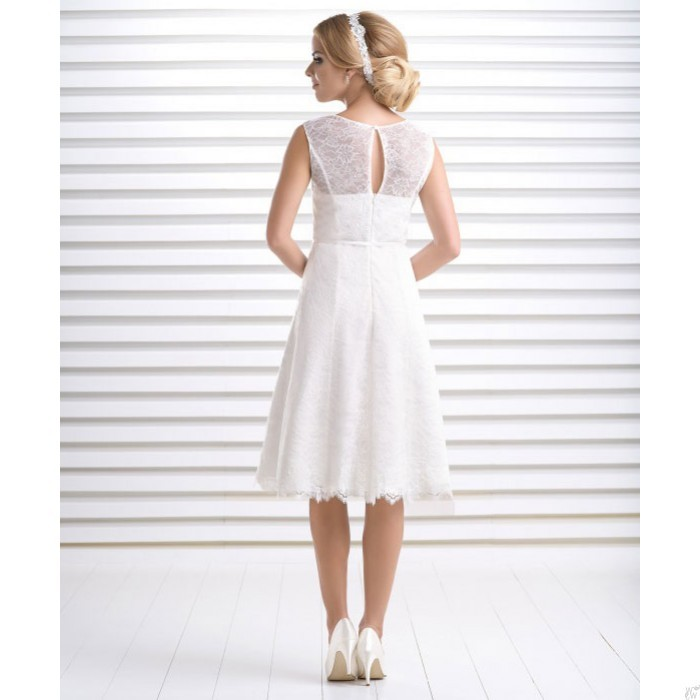 Short vintage wedding dress Calendula buy online | Beautiful Bride Shop