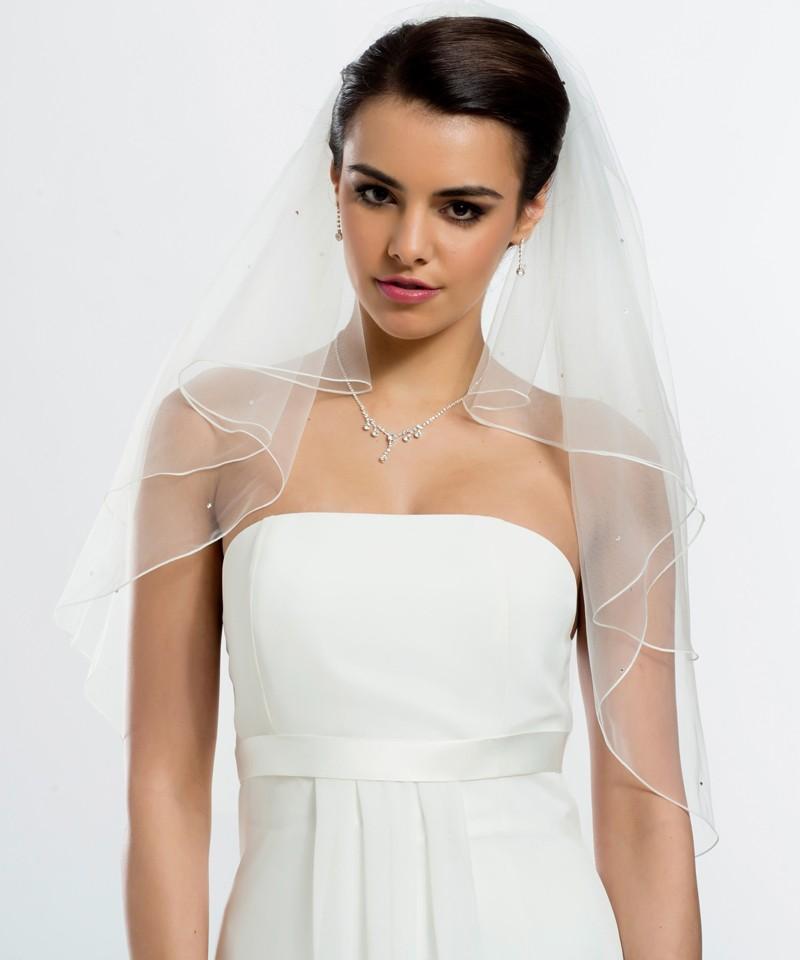 veil soft with 40 swarovski 39 s stones bbc s71 buy online beautiful bride shop. Black Bedroom Furniture Sets. Home Design Ideas
