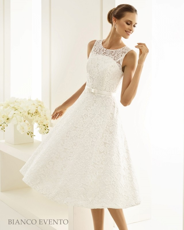 Short vintage wedding dress Siena buy online | Beautiful Bride Shop
