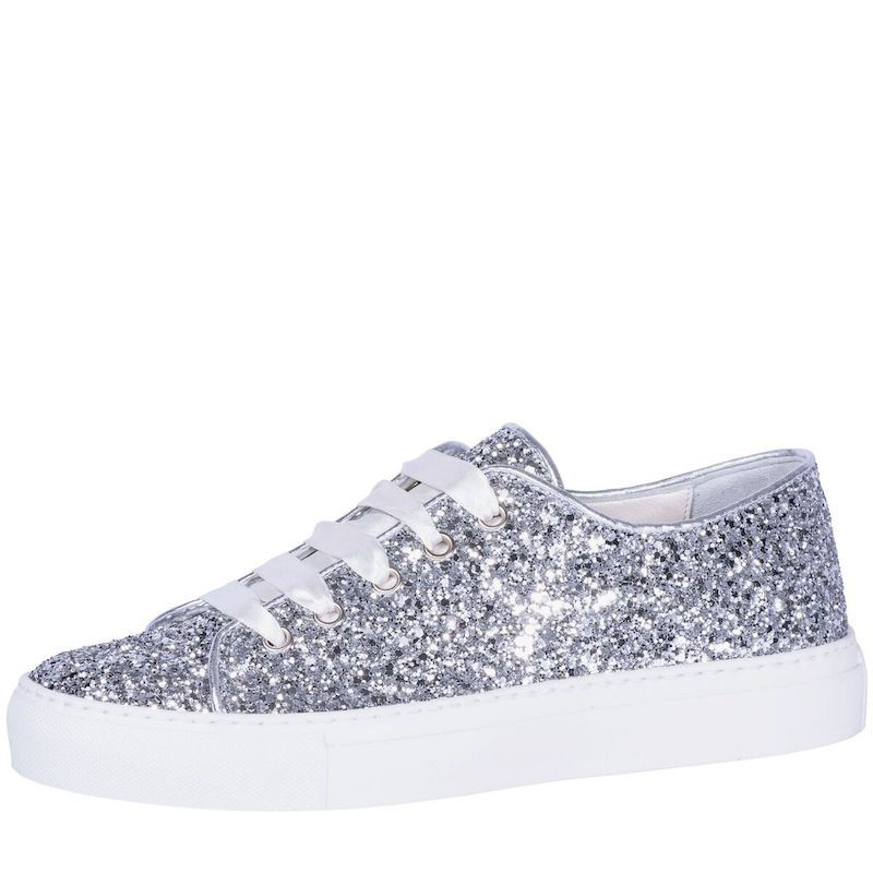 490a1c69b Fiarucci Bridal Wedding Shoes Sneaker Suzan Silver Glitter buy ...