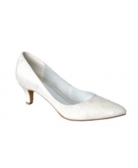 Lilly Bridal pumps with lace  (07-1987-CR)