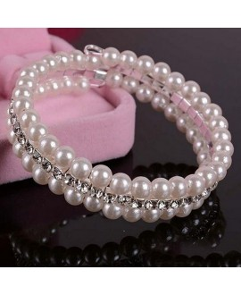 Bracelet with pearls and rhinestones 5001