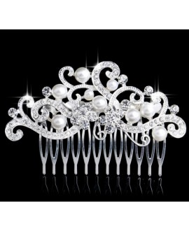 Hair comb with crystals and pearls 53220