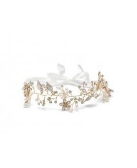 Abrazi Bridal Headband HB-Leaf Rose