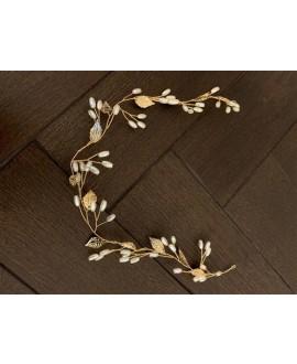 Abrazi Bridal Hair Vine HB-FD Gold