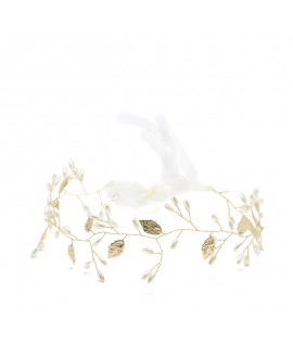 Abrazi Bridal Hair Vine HB-FD Gold