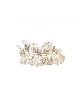 Abrazi Bridal Headband HB-TREE Gold