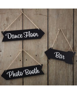 Chalkboard Wedding Arrow Signs - Vintage Affair AF-717