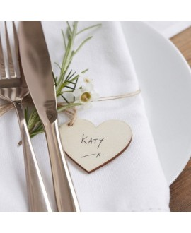 Wooden Heart Tags With Twine - Beautiful Botanics