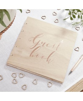 Wooden Guest Book - Beautiful Botanics