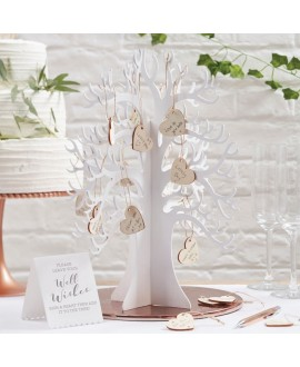 Wooden Wishing Tree Guest Book Alternative - Beautiful Botanics