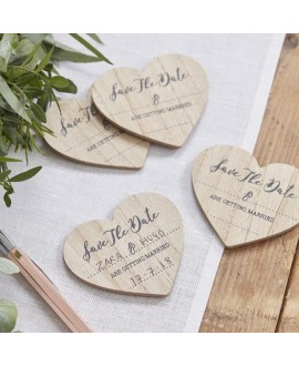 Save The Date Wooden Magnets - Beautiful Botanics
