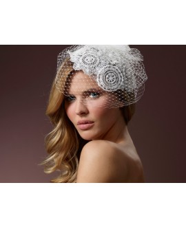 Fascinator with lace BB-386 Poirier