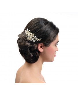Poirier Bridal Haircomb BB-432 Gold