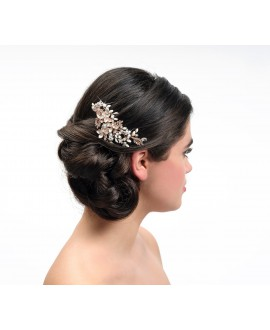 Poirier Bridal Haircomb BB-432 Rose