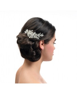 Poirier Bridal Haircomb BB-432 Silver