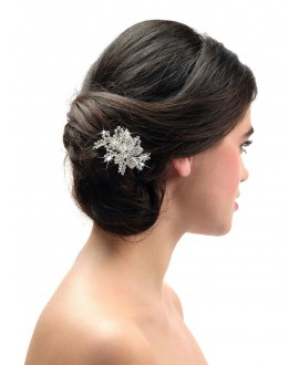 Poirier Bridal Haircomb BB-1580 Silver