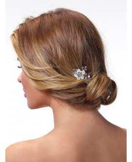 Poirier Bridal Haircomb BB-420 Silver